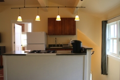 Studio garage apartment kitchenette