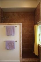 Studio garage apartment shower