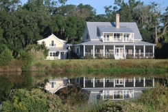 View of house from across the pond